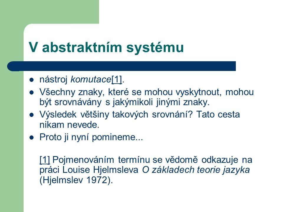 V abstraktním systému nástroj komutace[1].